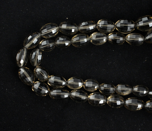 Smoky Quartz Oval Beads