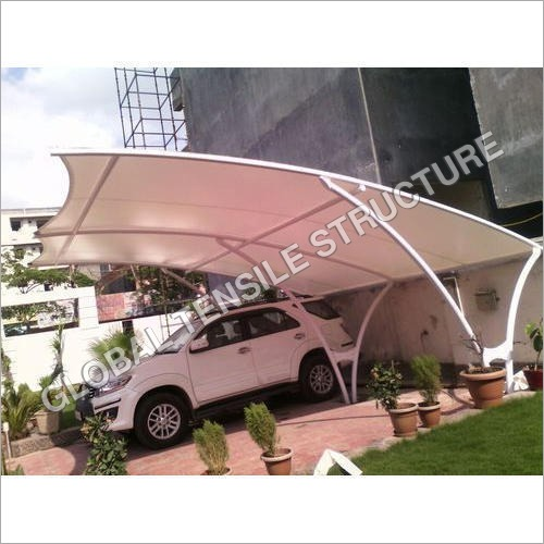 Car Parking Polycarbonate Sheet Tensile Structure Shade