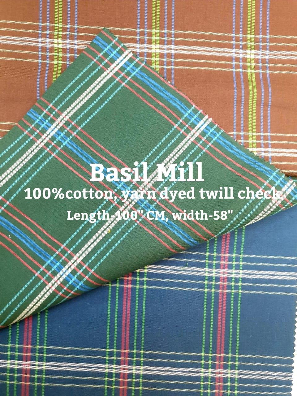 Cotton Check Shirting Fabrics