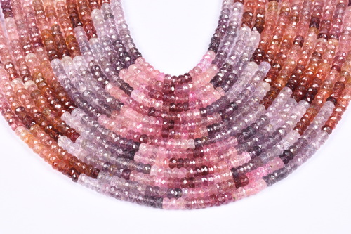 Multi Spinel Roundel Beads