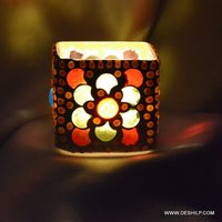 Hand Decor Glass Candle Holder