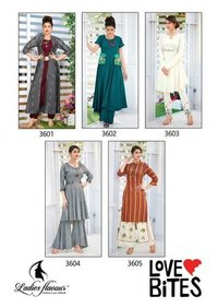 Love-Bites Ladies Flavour Tim tim Rayon Cotton Kurti