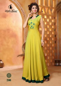 Pick and Choose Long Gown Style Ladies Flavour Kurti