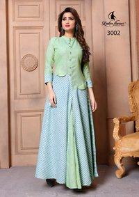 Ladies Flavour Present Sui Dhaga Long Kurti on Wholesale