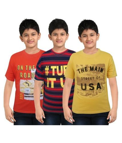 Children & Kids Roundneck T-Shirts (3 Pcs. Pouch Packings)