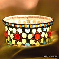 Splendid Mosaic Design T Light Candle