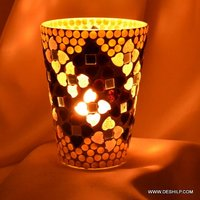 Mosaic Handmade Glass Candle