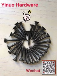 Chinese Supplier Black Phosphate Drywall Screw Fine Thread