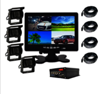 Vehicle HD DVR Heavy Duty 4 Cameras CCD Monitor System