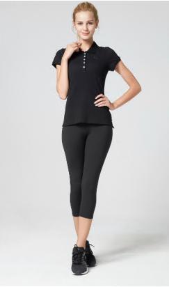 OEM service wholesale factory slim fit stretch sports polo shirt women