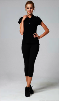 OEM service wholesale factory slim fit stretch sports polo shirt women