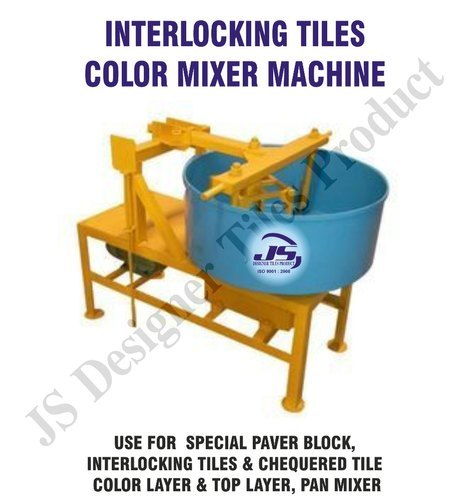 Interlocking Tile Pan Mixer Machine