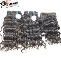 Remy Virgin Human Hair Curly Hair Weaves With Hair Extension