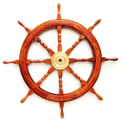 Wooden Ship Wheel 36 Inch