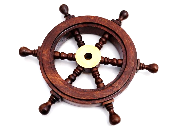 Wood Mini Ship Wheel 9.5 Inch
