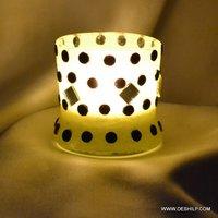 Bindi Shape Frost Glass Candle Holder