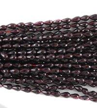 Garnet Faceted Drop Beads