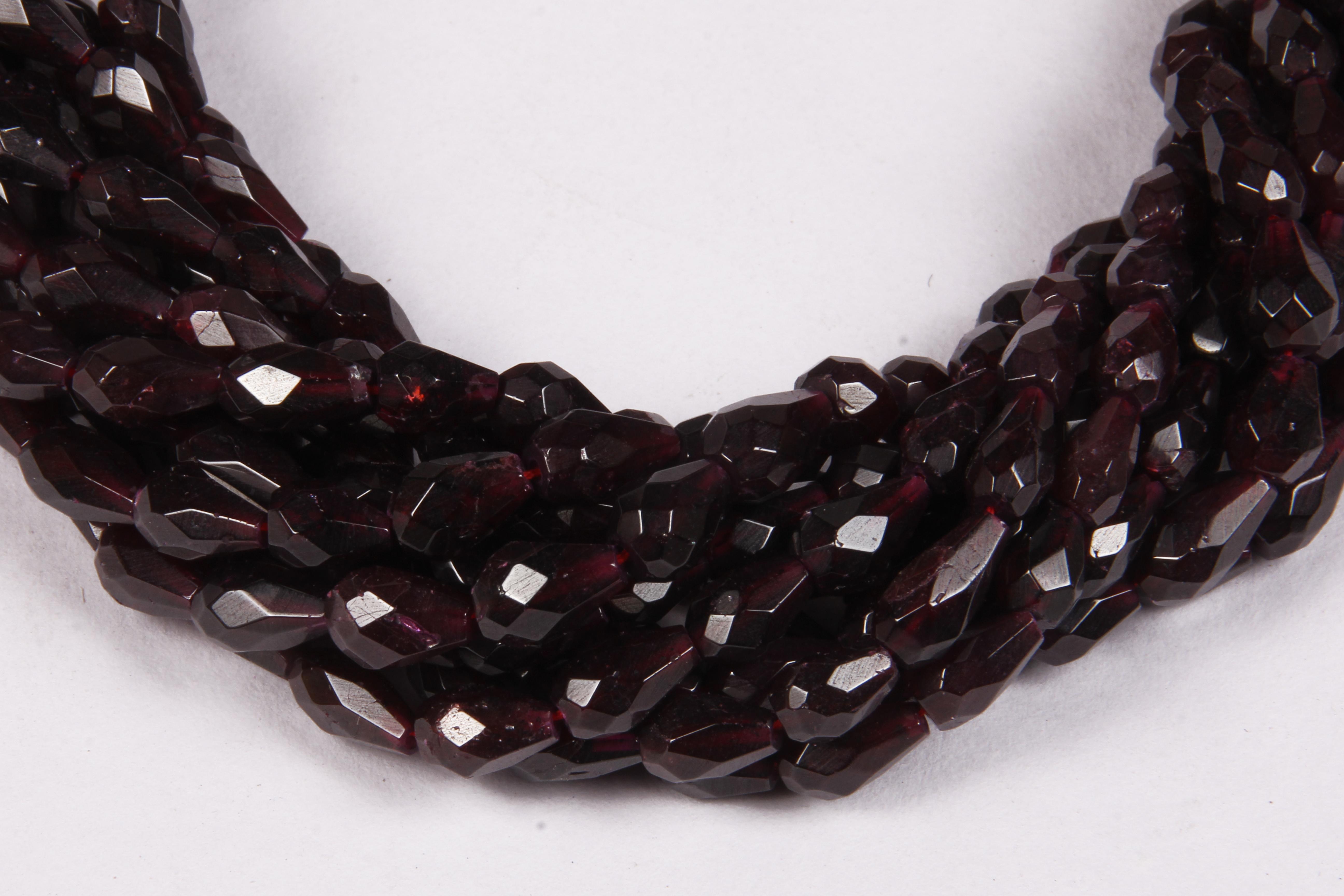 Garnet Gemstone Drops Beads