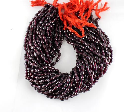 Garnet Drops Beads