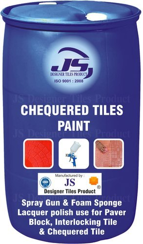 Chequered Tile Paint