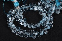 Blue Topaz Side Drops Beads