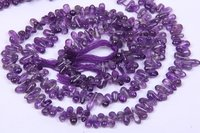 Amethyst Smooth Drop Beads