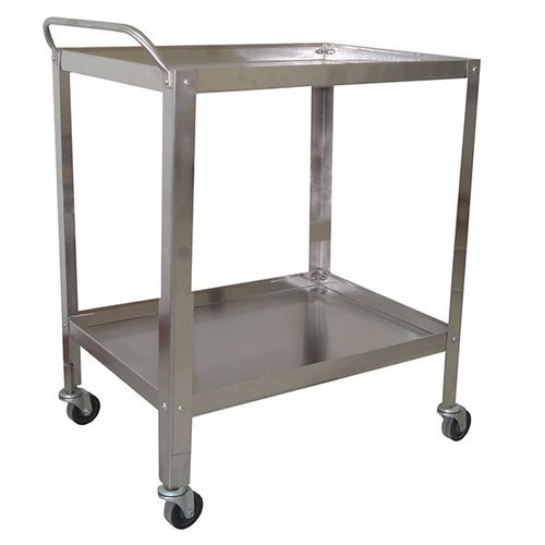 UPL Stainless Steel Instrument Trolley- 2 shelves