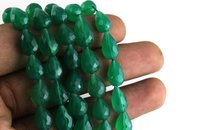 Green Onyx Drops Beads
