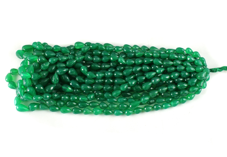 Green Onyx Drops Beads