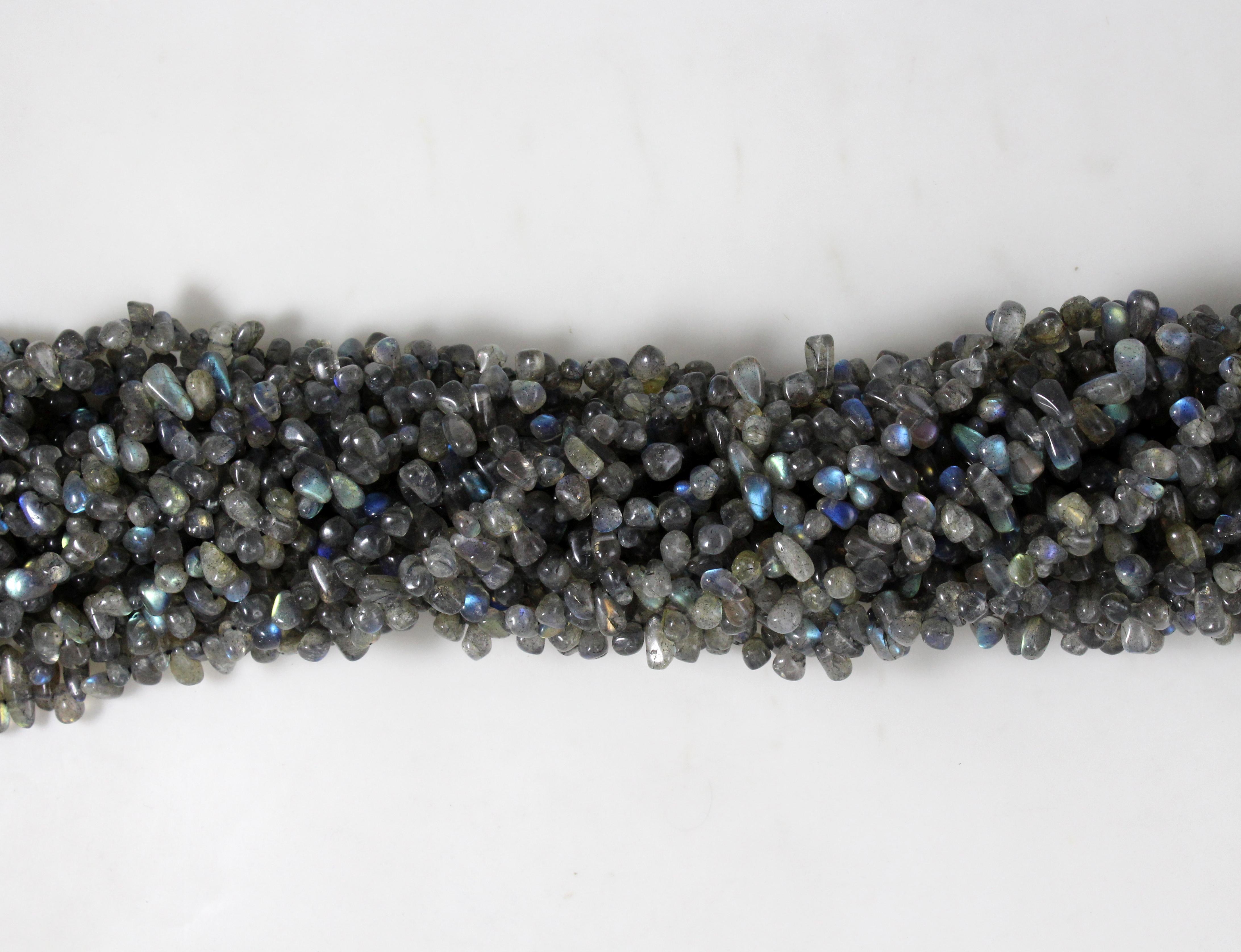Labradorite Smooth Drop Beads