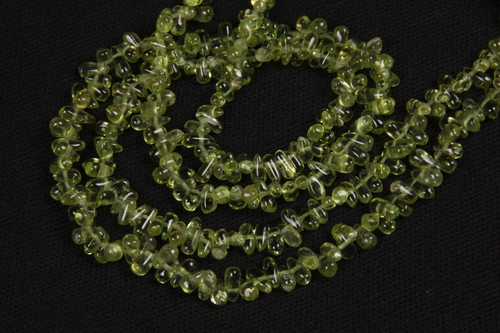 Peridot Gemstone Drops Beads