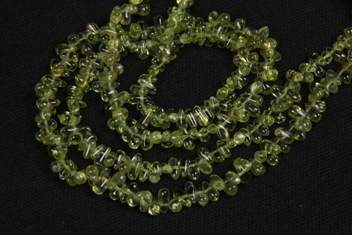 Peridot Gemstone Drops Beads