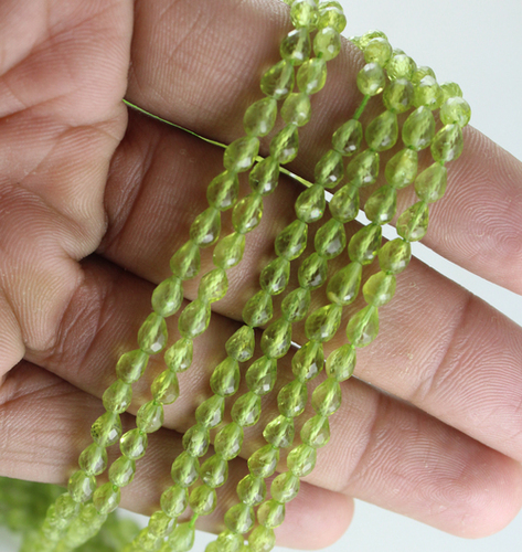 Peridot Gemstone Drop Beads