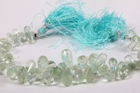 Aquamarine Faceted Drop Beads
