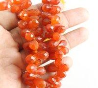 Carnelian Drops Beads
