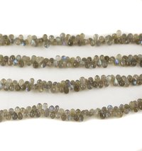 Labradorite Faceted Drop Beads