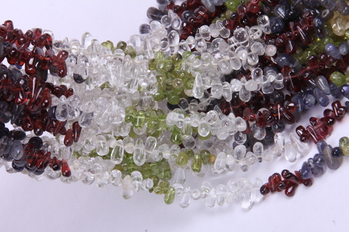 Multi Gemstone Drop Beads