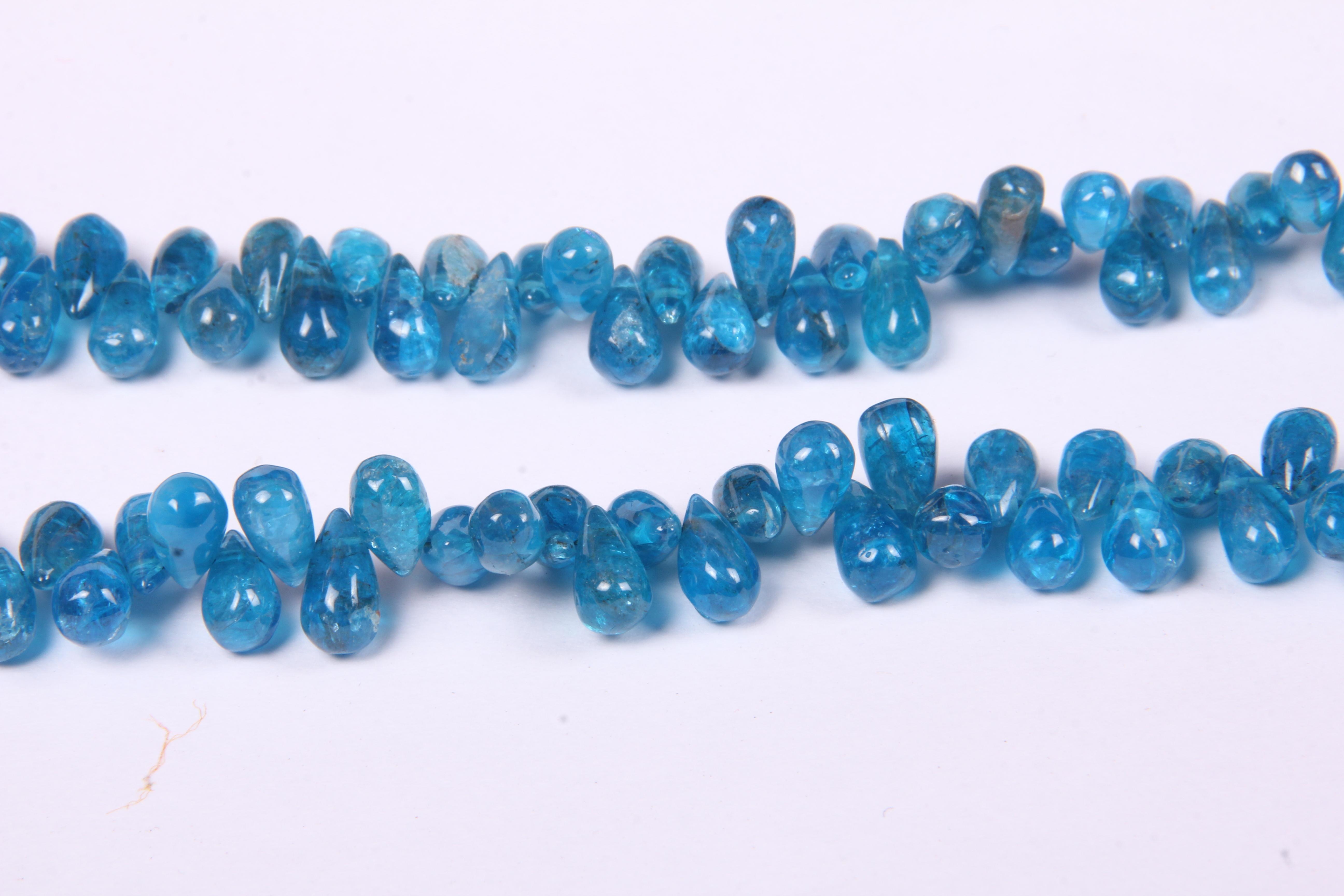 Apatite Smooth Drop Beads