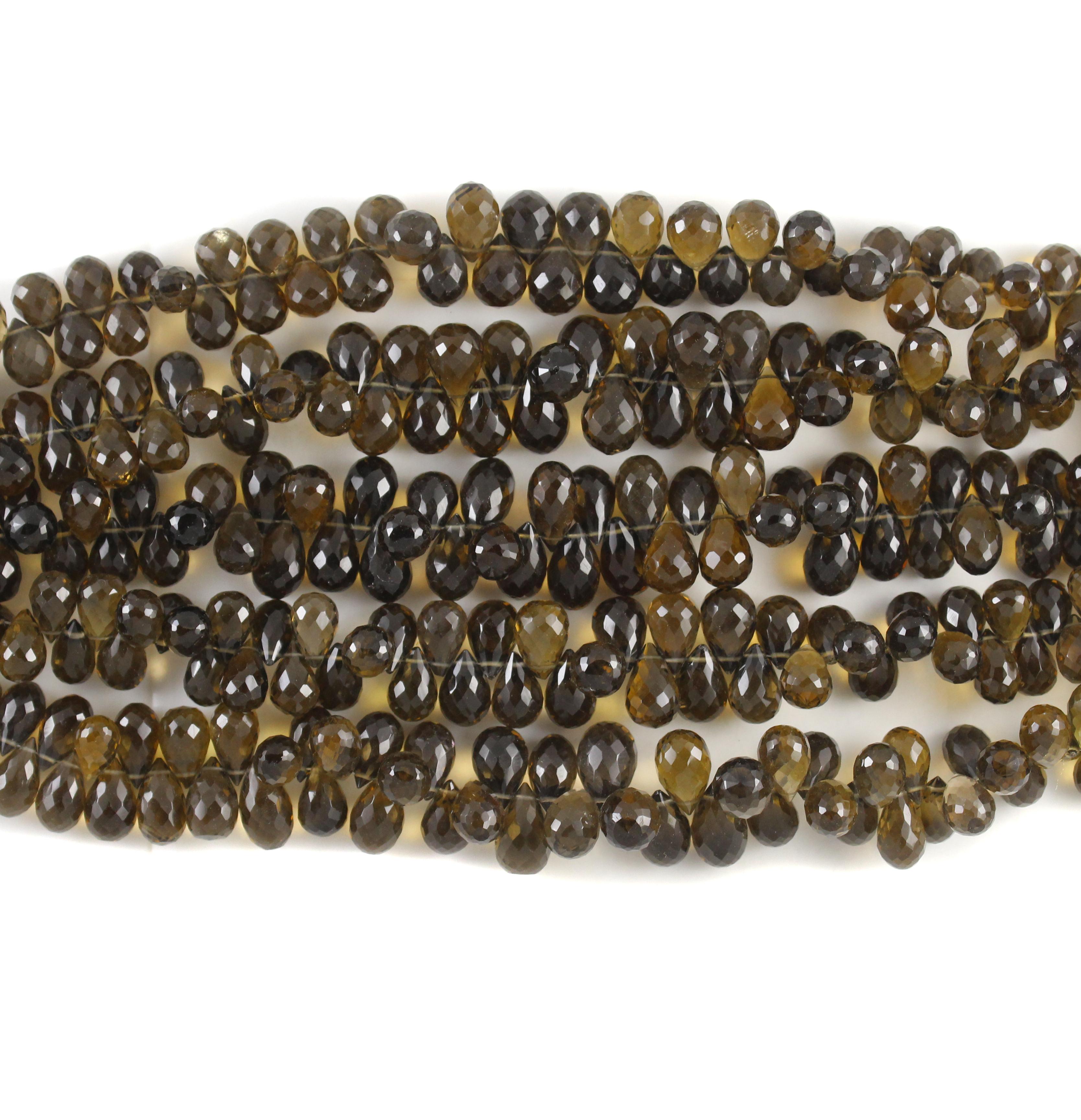 Whisky Quartz Beads