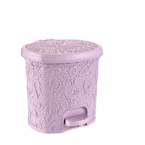 Plastic Lace Pedal Dustbin 5.5ltr with inner