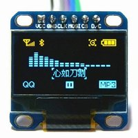 OLED 6pin 128x64 Display Module 0.96 Yellow Blue Color