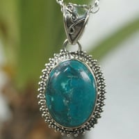 Pendant natural moonstone and blue turquoise oval gemstone 925 silver IC639
