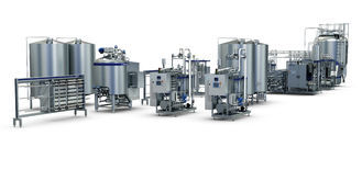 Multifunctional Milk Processing Line With Pasteurized Milk UHT Cream Butter