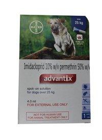 ADVANTIX SPOT ON FOR DOGS 25KG