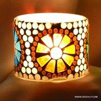 Circle Shape Glass Candle Holder