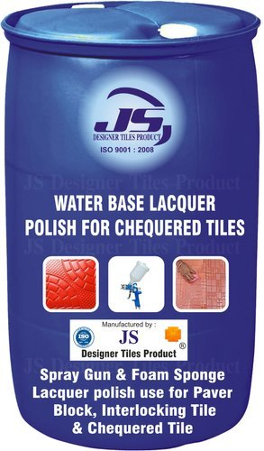 Chequered Tile Water Base Lacquer Polish