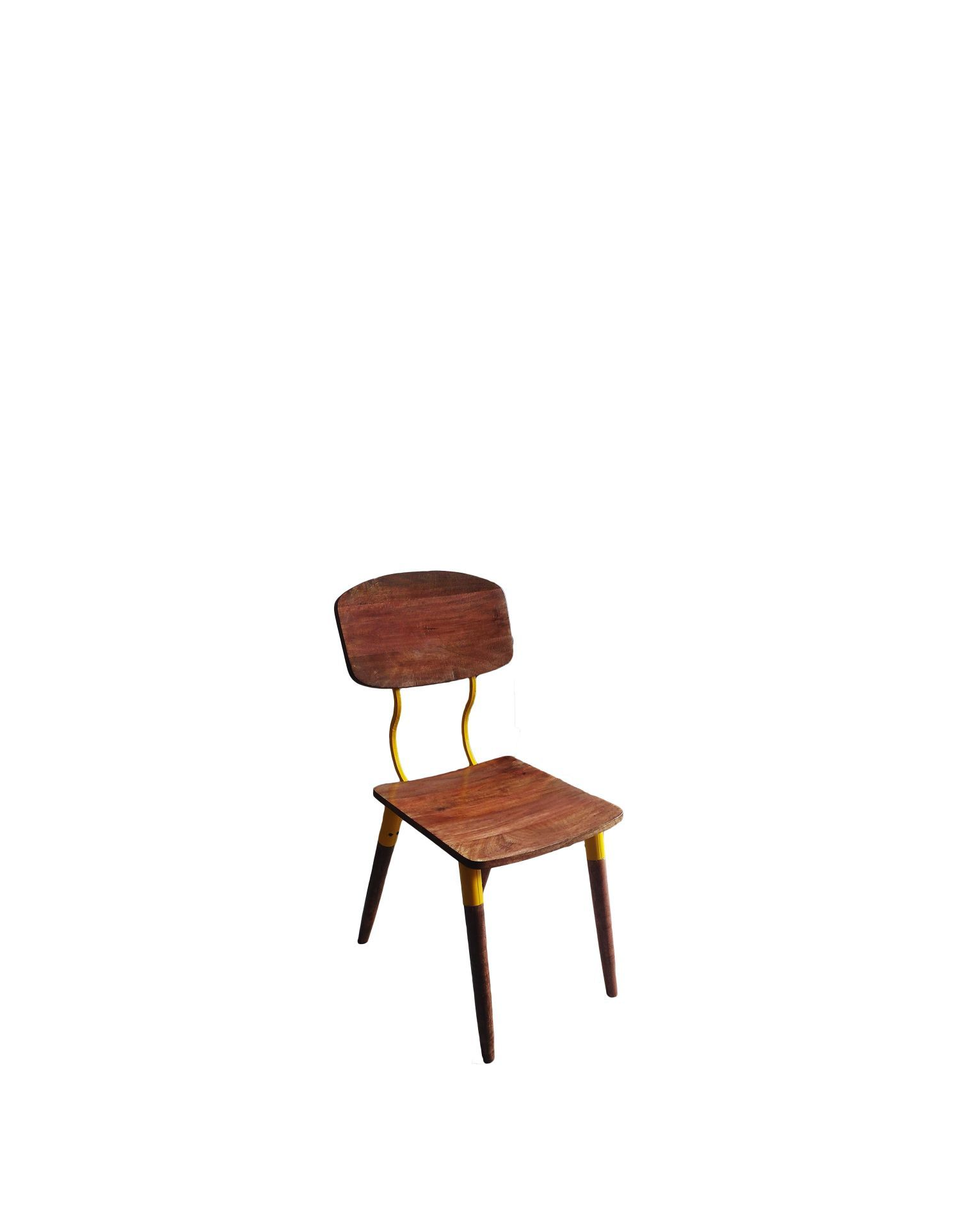 Iron Wooden  dining Chair