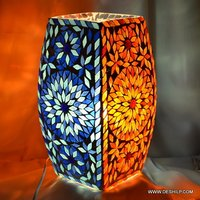 Two Color Mosaic Floor Lamp