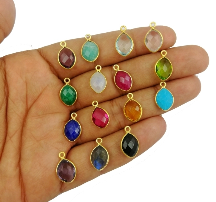 Marquise Birthstone Pendant Charms