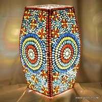 Multi Mosaic Glass Table Lamp